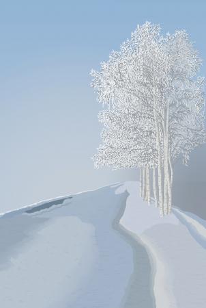 rime: Winter landscape Illustration