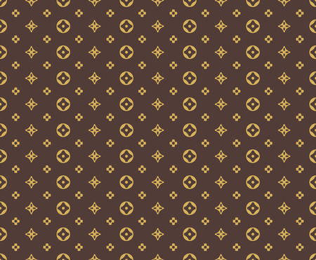 brown pattern: Seamless golden pattern on brown background