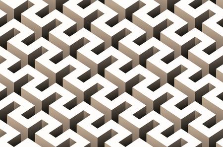 Zusammenfassung 3D nahtlose Muster Standard-Bild - 79018398