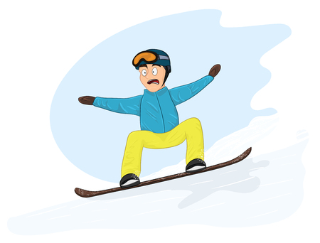 Newbie snowboarder Illustration