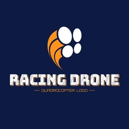 Racing Drone Logo Standard-Bild - 79018397
