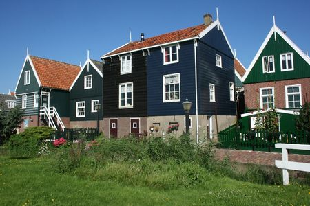 marken: Houses in the touristic village Marken nearby Amsterdam