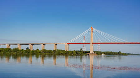 Zarate Brazo Largo bridge, in Argentina, that crosses the Paraná river between the province of Buenos Aires and Entre rios.