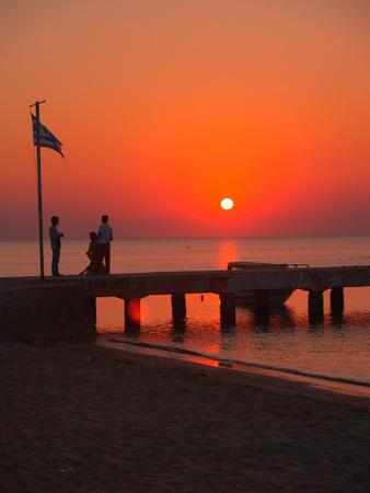 thessaloniki: sunset at the beach of Agia Triada