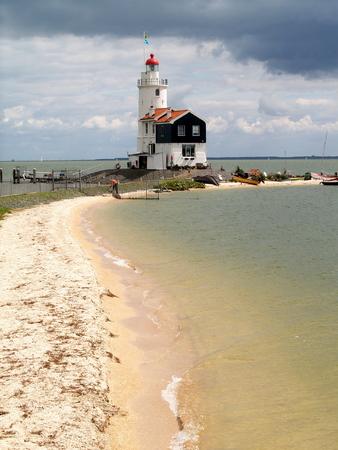 marken: Lighthouse of Marken Stock Photo