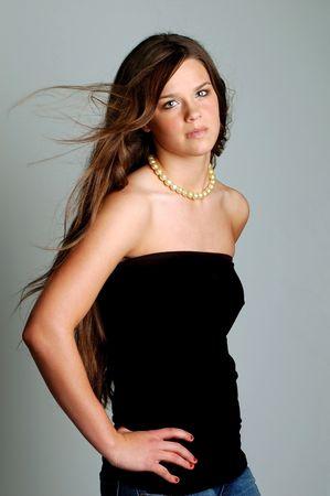 gorgeous teenage glamour portrait Stock Photo - 3993034