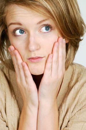 beautiful blond model Stock Photo - 4023084