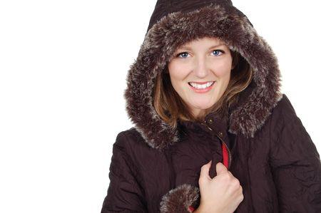 Cute Girl in a Winter Coat photo