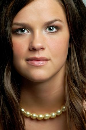 Beautiful Brunette Teen Girl Stock Photo