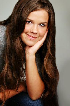 Sweet Smiling Teenage Girl