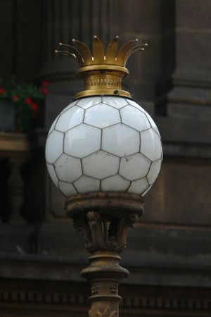 Detail of lantern in front of National Theatre in Prague, Czech Republic photo