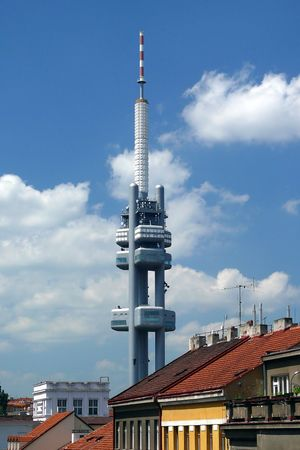 TV tower in Prague, Czech Republic photo
