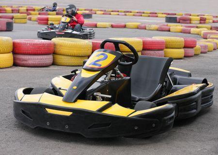carting: Go Kart on racecourse