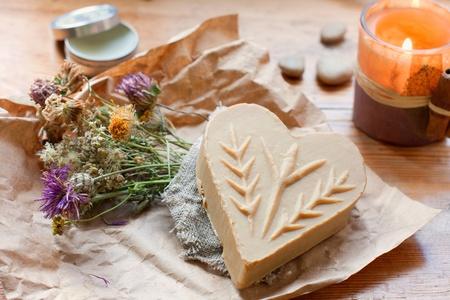 natural soap: natural soap with herbs