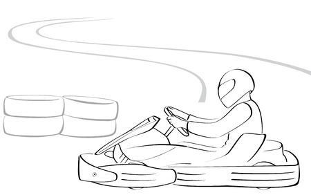 carting: Go-kart ilustraci�n vectorial