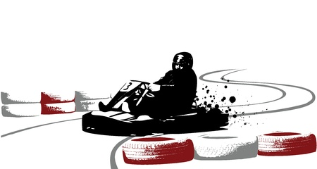 racing wheel: Go-kart vector illustration Illustration