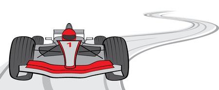 formula car: F1, vector illustration