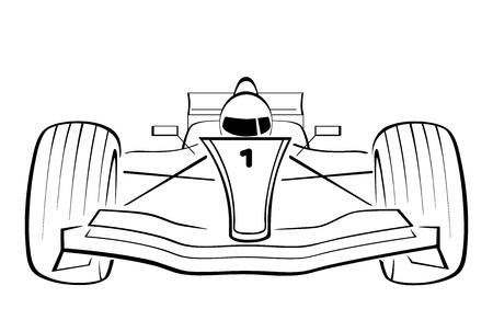F1 Car Stock Vector - 14469992