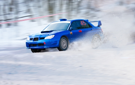 rally car: winter race