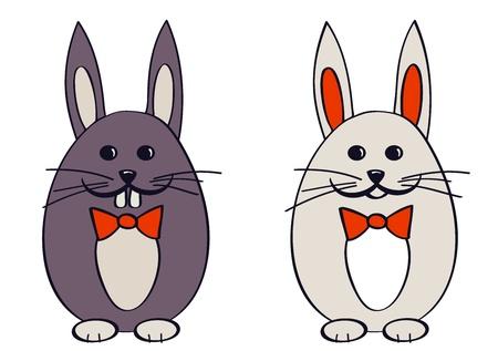 Conejitos de Pascua Ilustración de vector