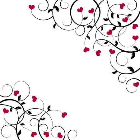 valentine background with space for a text Vector
