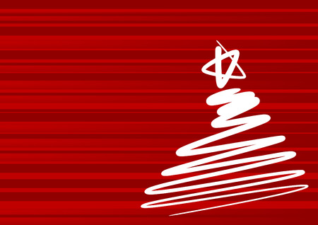 Abstract christmas tree - simple drawing Vector