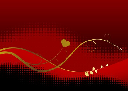 valentine background with space for text Vector