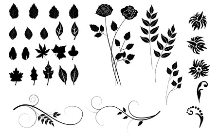 collection, for designers, plant vector Vector