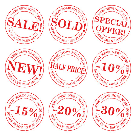 Sale stamp vector set Vector