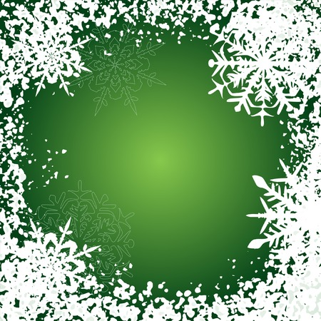 Winter background, snowflakes - vector illustration Stock Vector - 4376652
