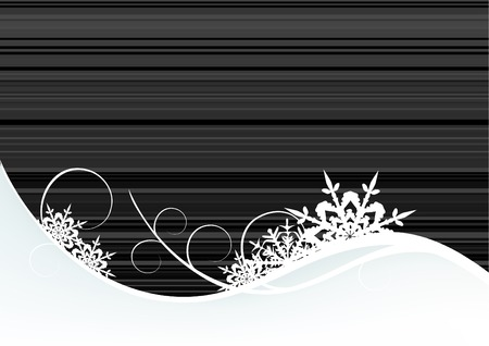 Winter background, snowflakes - vector illustration Stock Vector - 4376650