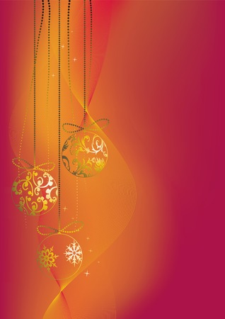 Christmas background, snowflakes Vector
