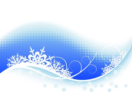 Winter backgroundbackground with space for text  - vector illustration Stock Vector - 4368468