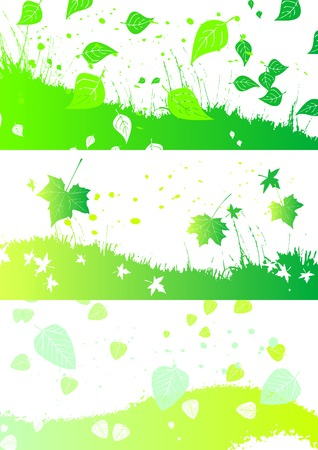 autumn horizontal banners Vector