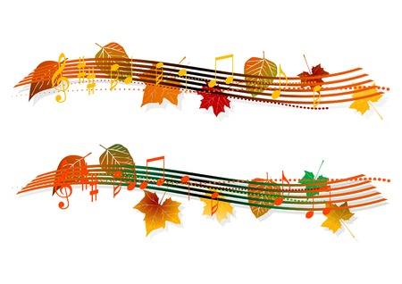 stave: musical banner