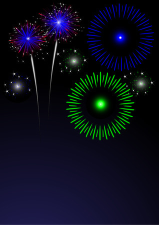 colorful fireworks with space for text Vector