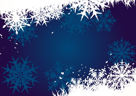 Winter background, snowflakes - vector illustration Stock Vector - 4376701