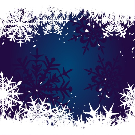 Winter background, snowflakes - vector illustration Stock Vector - 4387402