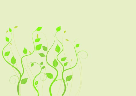 floral background, meadow, garden, grass Stock Vector - 4387393