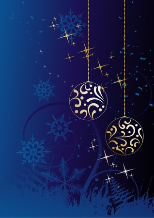 Winter background, snowflakes - vector illustration Stock Vector - 4387391