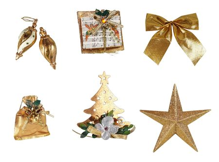 Christmas decorations isolated on white Stock Photo - 4404761
