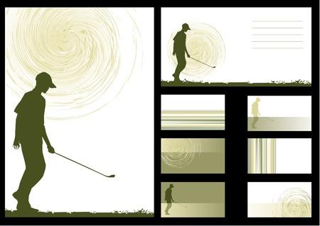 vector background, golf Vector