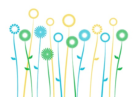 spring background with space for a text Vector