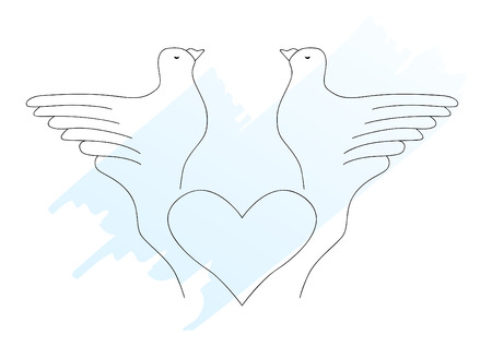 simply: Doves. This is a vector image - you can simply edit colors