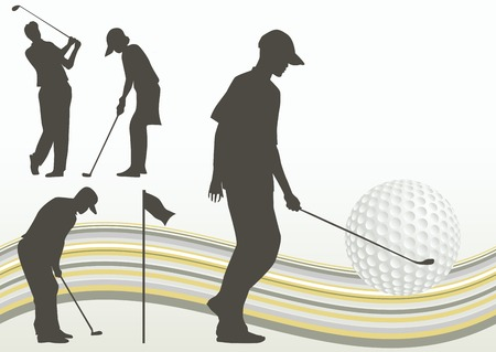 set of golf player vector Stock Vector - 4512811