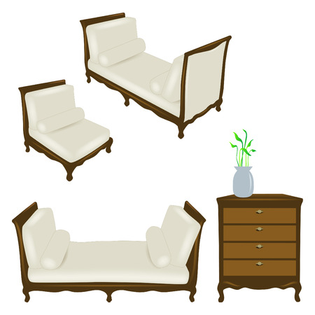 baroque room: Vector set of antique elements