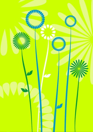 abstract flowers, meadow, garden Stock Vector - 4692072