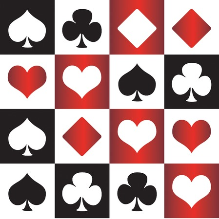 jeu de cartes: poker, bridge Illustration