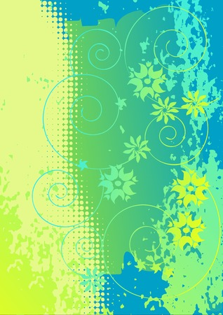 abstract flowers, meadow, garden Stock Vector - 4732234