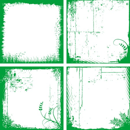 Four grunge frames for your design Stock Vector - 4739207